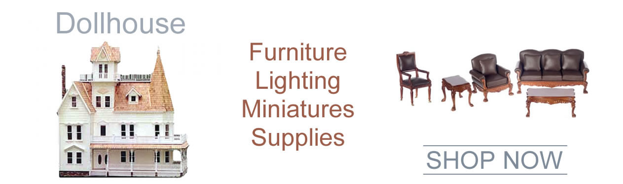 """Oakridge Hobbies offers the largest online selection of 1"""" Scale Doll Houses, Dolhouse Miniatures and Doll House Supplies including Doll houses, Dollhouse furniture, Dollhouse windows and doors, Dollhouse Interior decorating supplies, Dollhouse lighting, Dollhouse miniature figures, Dollhouse Supplies, Assembled Dollhouses, Dollhouse kits, Children's Play Dollhouses"""