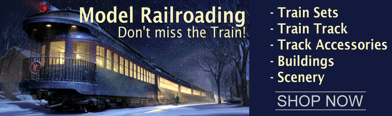 """Electric Toy Trains - Electric Train around the Christmas Tree"""", We carry the largest selection of Scale Model Railroading supplies, Trains and Scale Model Railroad Miniatures and Railroad Diorama Accessories in N Scale, HO Scale, O Scale and G Scale."""