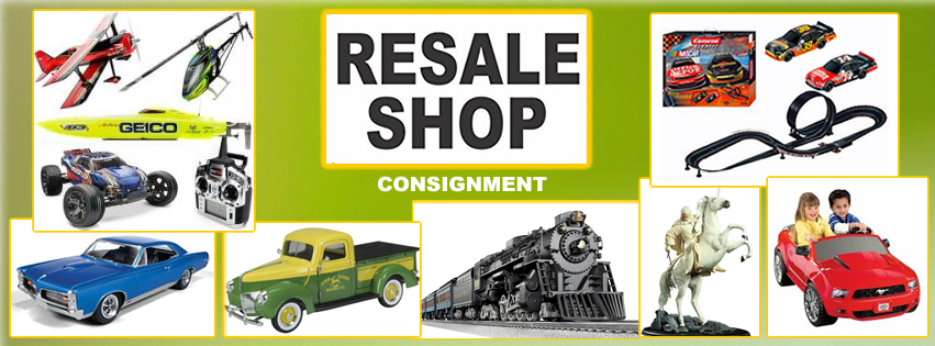 RESALE SHOP: Here's where you will find all the Bargains, Steals and Deals! Everything from Die Cast Cars, Toy Trains and Dollhouse Miniature Collections to Porcelain Christmas Villages, Electronics, Retro and Antique Collections. Our Resale Shop sells Second-Hand items, some New / Never Used, Used, Like-New, Bruised & Reduced, Returns, Private Collections, Antiques, Collectibles, Consignment Items, Bundles, Parts and Odds & Ends